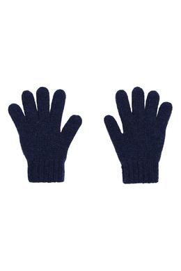 Вязаные перчатки синего цвета Bonpoint 1210147559