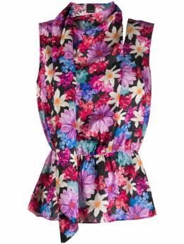 Pinko рубашка с запахом и цветочным принтом 1G149KY5NAZY5