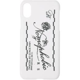 Raf Simons White Nomophobic iPhone X Case 192287F03200101GB