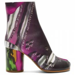 Maison Margiela Green and Pink Graphic Tabi Boots S58WU0260 P3053
