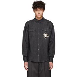 Dolce & Gabbana Black Denim Logo Shirt 192003M19202402GB
