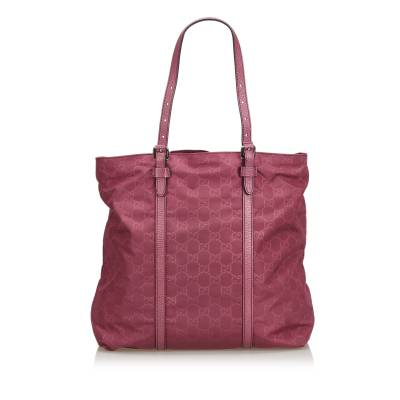 Gucci Pink Nylon GG Tote Bag 181997 - 2