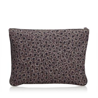 Gucci Brown Leopard Print Nylon Clutch Bag 179508 - 2