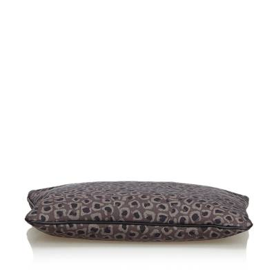 Gucci Brown Leopard Print Nylon Clutch Bag 179508 - 3