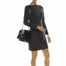 Carolina Herrera Black Leather Audrey Shoulder Bag 216986