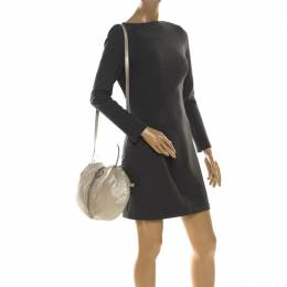 Emilio Pucci Metallic Light Beige Leather Top Handle Bag 216935