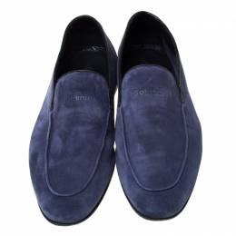 Baldinini Blue Suede Loafers Size 43 218669