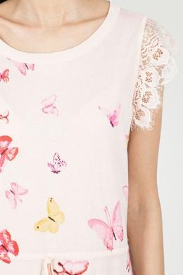 Летнее розовое платье Twin-set 1506143444