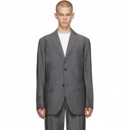 Issey Miyake Men Grey Wool Voile Blazer 192728M19500404GB