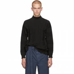 Issey Miyake Men Black Fit Knit Turtleneck 192728M20500202GB