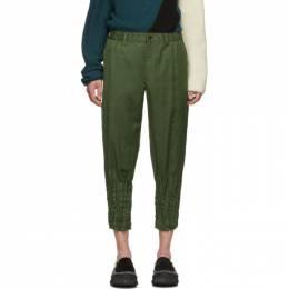 Issey Miyake Men Green Light Torus Trousers 192728M19101001GB