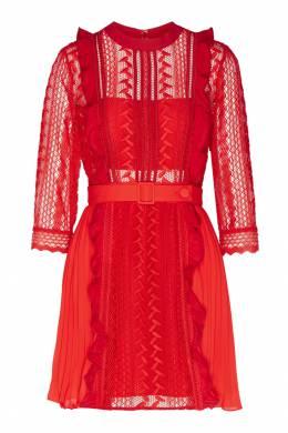 Короткое платье с плиссированным подолом Self-portrait 532148149