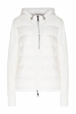 Комбинированная белая куртка Moncler 34147945