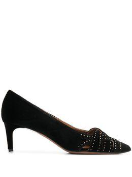 L'Autre Chose бархатные туфли с заостренным носком OSK09955WP28421001