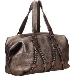 Mulberry Metallic Leather Satchel 210069