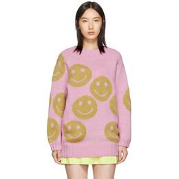 Marc Jacobs Pink The Redux Crewneck Sweater 192190F09601001GB