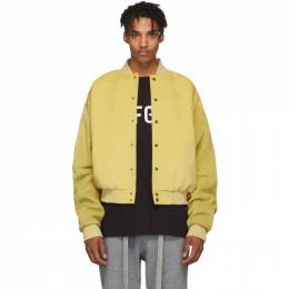 Fear Of God Yellow Suede Sixth Collection Varsity Jacket 6F19-6026USE