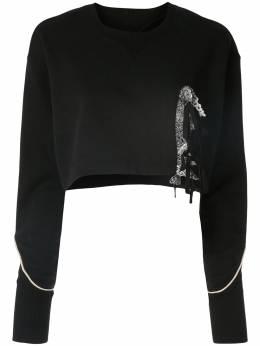 Facetasm укороченный свитер с кружевом PIPPASWW03