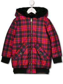 Little Marc Jacobs двусторонняя клетчатая куртка из искусственного меха W16107