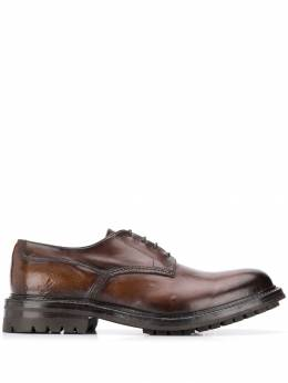 Officine Creative туфли дерби с эффектом потертости OCUEXET002TONE1H203