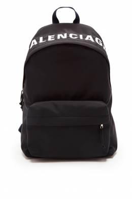 Черный рюкзак Wheel Balenciaga Man 2673148304