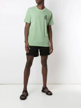 Osklen футболка с принтом Stone Palm Leaf 59354