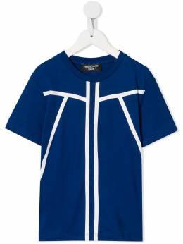 Neil Barrett Kids футболка с контрастными полосками 020558