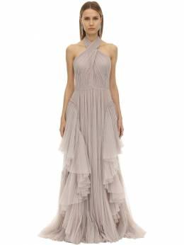 Длинное Платье Из Тюля Alberta Ferretti 70I51M035-MDE3OQ2