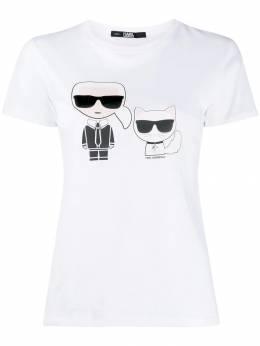 Karl Lagerfeld футболка Ikonik Karl & Choupette 96KW1717100