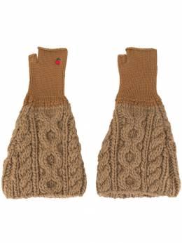 Undercover перчатки-митенки фактурной вязки UCX4G05