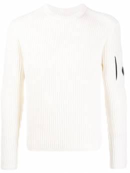 C.P. Company свитер в рубчик с длинными рукавами 07CMKN153A005292A