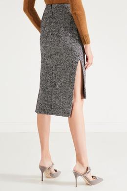 Серая юбка из шерстяной ткани No. 21 35148609