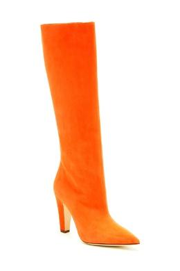Оранжевые замшевые сапоги Lina Manolo Blahnik 166148537