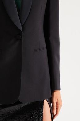 Черный жакет с воротником-шалью No. 21 35148616