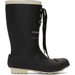 Undercover Black A Clockwork Orange Print Rain Boots 192414M22300101GB