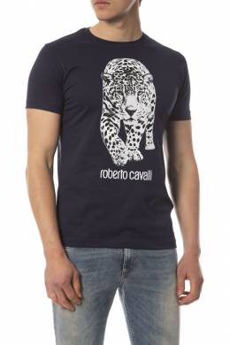 t-shirt Roberto Cavalli FST653_AT220_04926_NAVY
