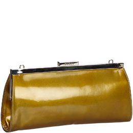 Gucci Gold Patent Leather Clutch Bag 217169