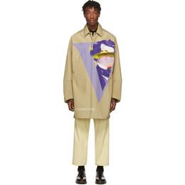 Undercover Beige Valentino Edition V Face UFO Print Coat 192414M17602703GB
