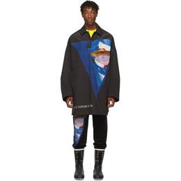 Undercover Black Valentino Edition V Face UFO Print Coat 192414M17602801GB