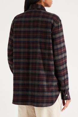 Хлопковая рубашка в клетку Isabel Marant Etoile 958148632