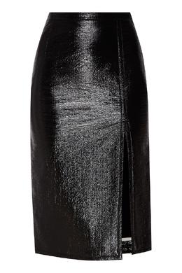 Лакированная юбка черного цвета No. 21 35148614