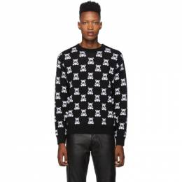 Moschino Black All Over Teddy Crewneck Sweater 0911 5200