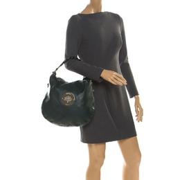 Mulberry Green Leather Medium Daria Hobo 219819