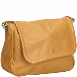 Mulberry Brown Leather Flap Crossbody Bag 214310