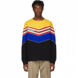 Gucci Black V-Neck Sweatshirt 192451M20400105GB