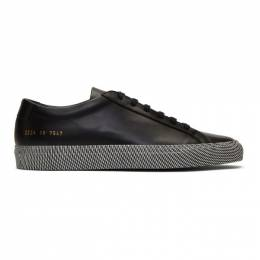 Common Projects Black Achilles Moire Sole Low Sneakers 192133M23703405GB