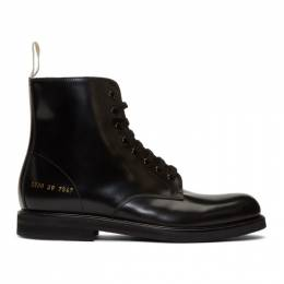 Common Projects Black Standard Combat Boots 2230