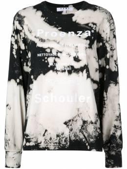 Proenza Schouler футболка PSWL с выбеленным эффектом WL1944050JCT137