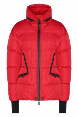 Красная куртка с застежками-зигзагами Dixence Moncler 34149580