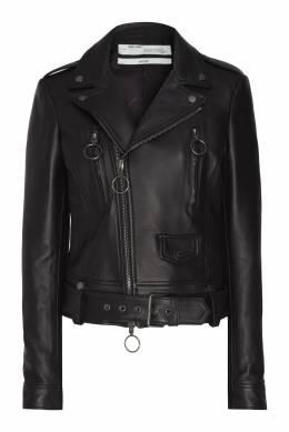 Кожаная куртка с кольцами Off-White 2202148910